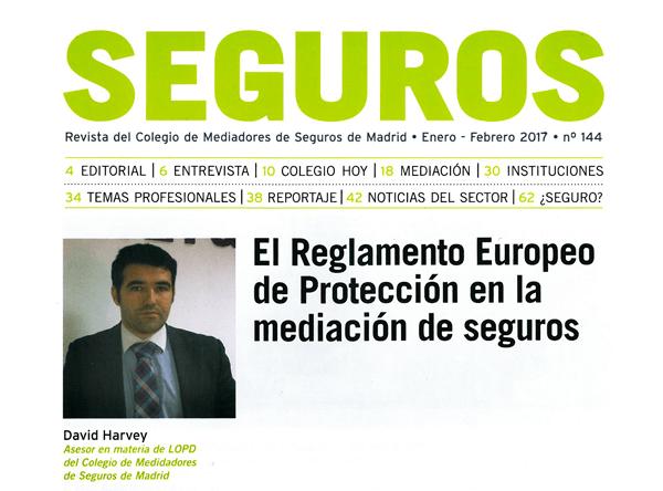El Reglamento Europeo de Protección de Datos en la mediación de Seguros